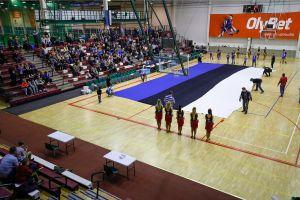 f0afd514267 DELFI FOTOD: Audentese spordisaali põrandale laotati hiiglaslik ...