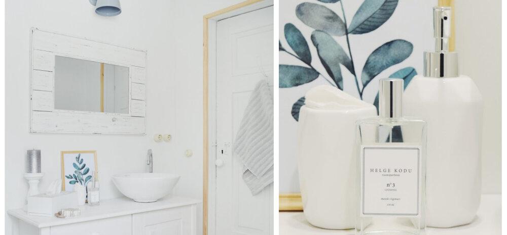 """""""MEIE KODU 2018"""" │ Valge, õhuline ja detailideni läbi mõeldud vannituba"""