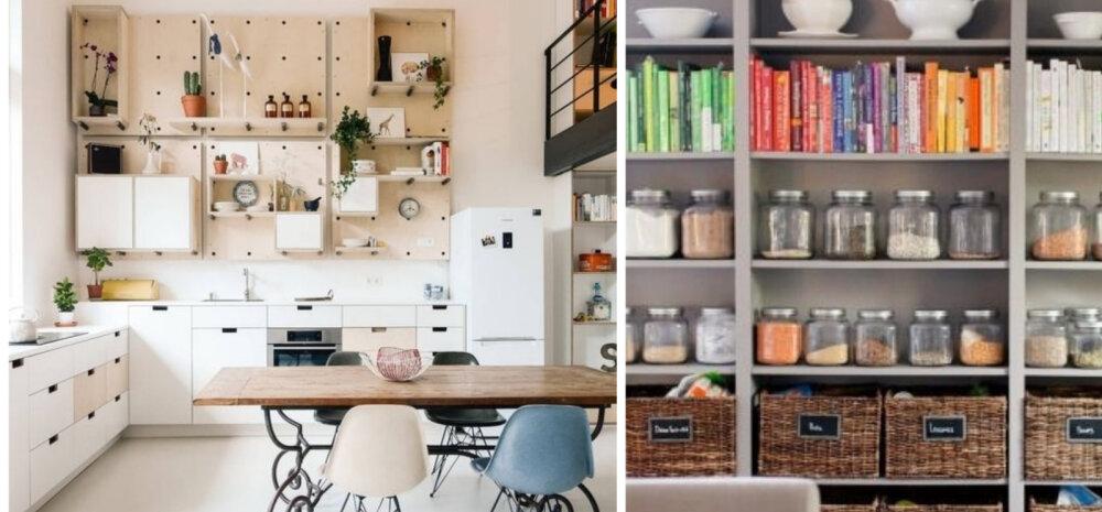 15 ideed, kuidas köögis avatud riiuleid kasutada