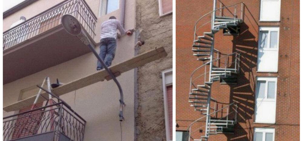 ФОТО И ВИДЕО | Лестница в никуда: оригинальный ремонт