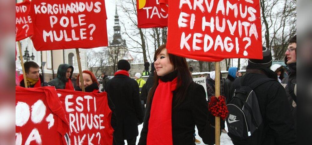 Tartu kõrgkoolide tudengiesindajad protestivad õppetoetuste vastu