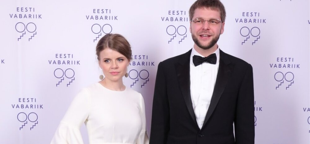 Tervise- ja tööminister Jevgeni Ossinovski ja proua Triinu Ossinovski