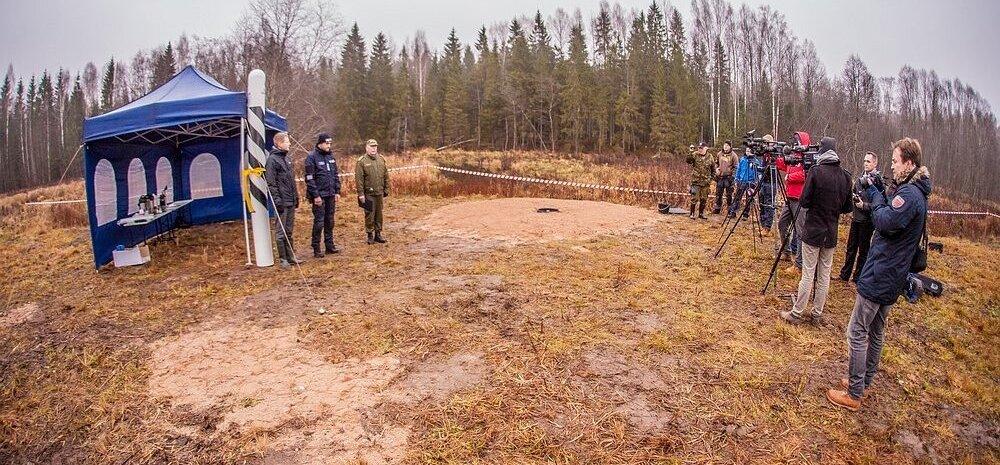 ФОТО читателя Delfi: Демаркация эстонско-российской границы началась