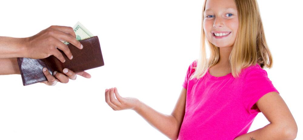 Lapsevanema õigus otsustada lapse teenitud raha kasutamise üle