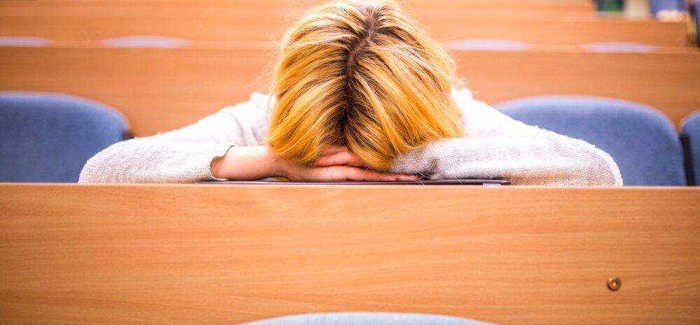 8. klassi õpilane: olen koolipäevast väga kurnatud ja hinded on langenud