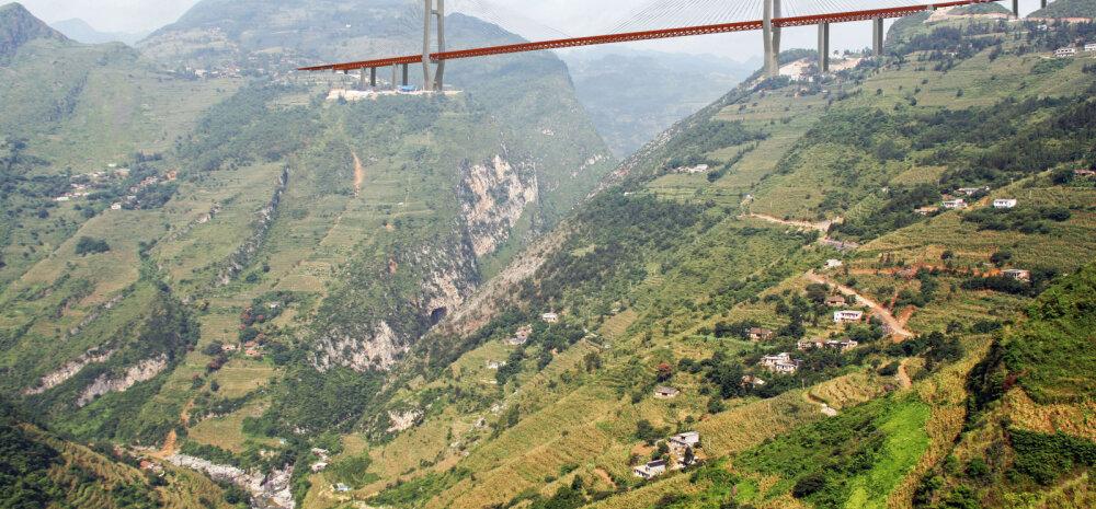 Kõrgeim sild maailmas, seda ületades ei võta kiirrong isegi hoogu maha