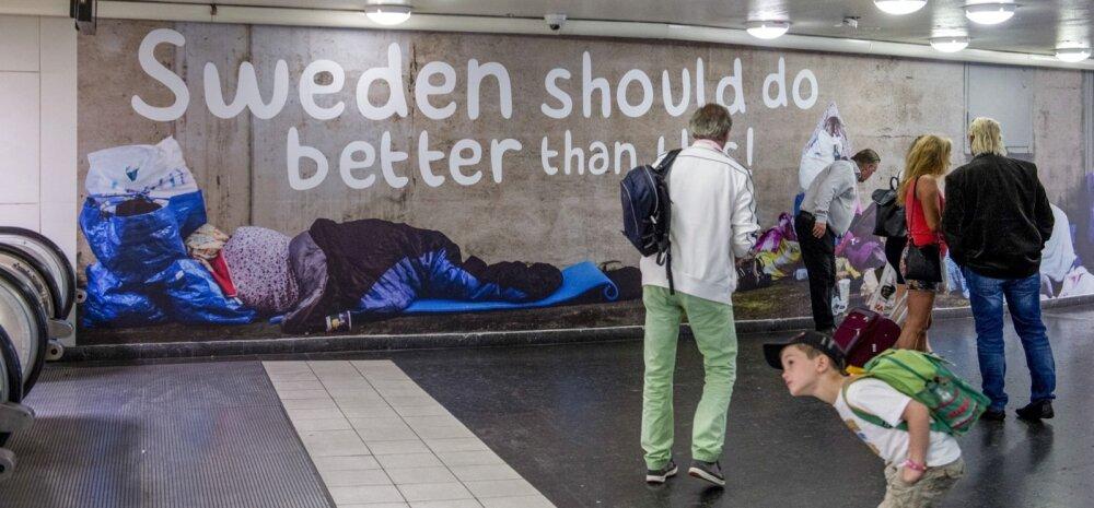 Rootsis on reageeritud vihaselt sisserändevastase erakonna kerjamisvastastele reklaamidele