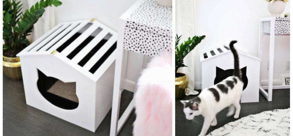 ДЕЛАЕМ САМИ│Мастерим красивый домик-лоток для кошки