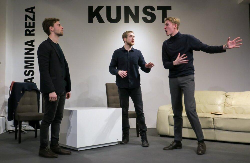 Noored näitlejad näitasid head taset: (vasakult) Joosep Uus, Markus Truup, Sander Roosimägi