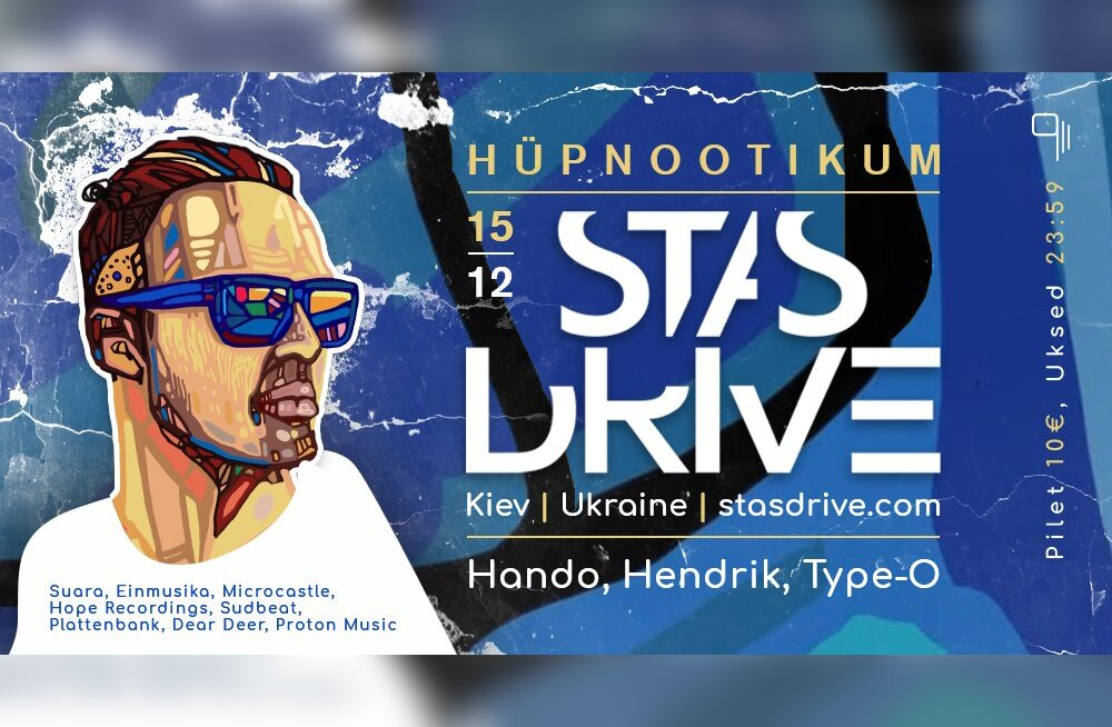 На самом гипнотической вечеринке Таллинне выступит знаменитый диджей из Украины DJ Stas Drive