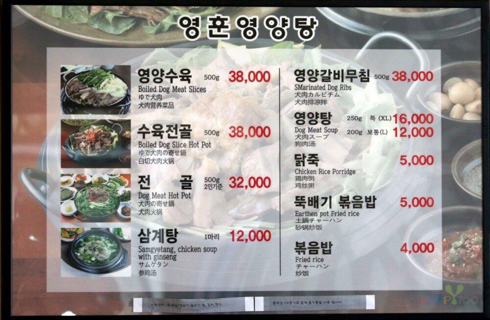 Lõuna-Korea olümpialinna ümbruse restoranid eiravad koeraliha pakkumise keeldu
