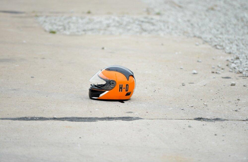 В Таллинне произошло две аварии с участием мотоциклистов