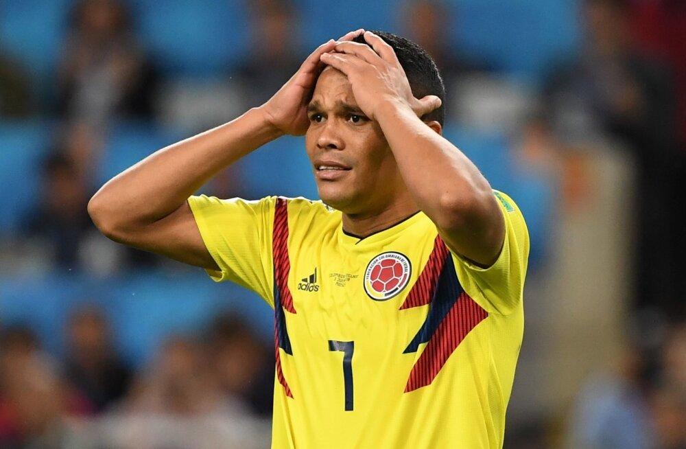 Carlos Bacca pärast penaltil eksimist.