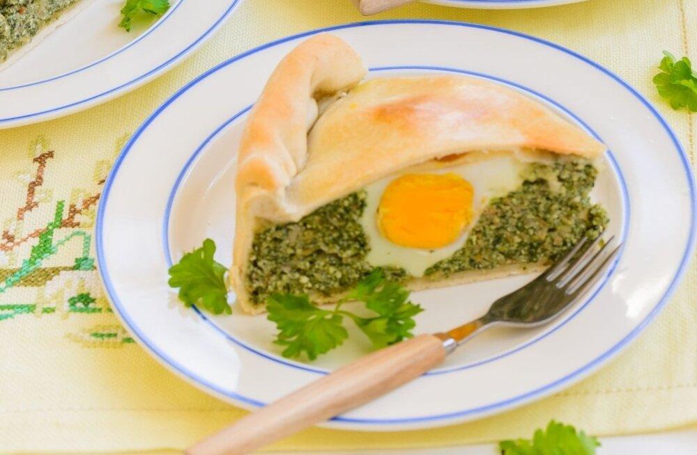 Spinati ja ricotta'ga pirukas on sobilik taimetoitlastelegi.