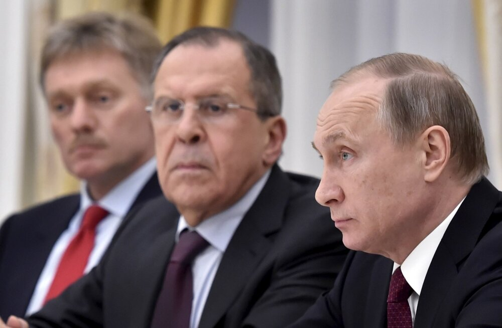 Dmitri Peskov, Sergei Lavrov, Vladimir Putin