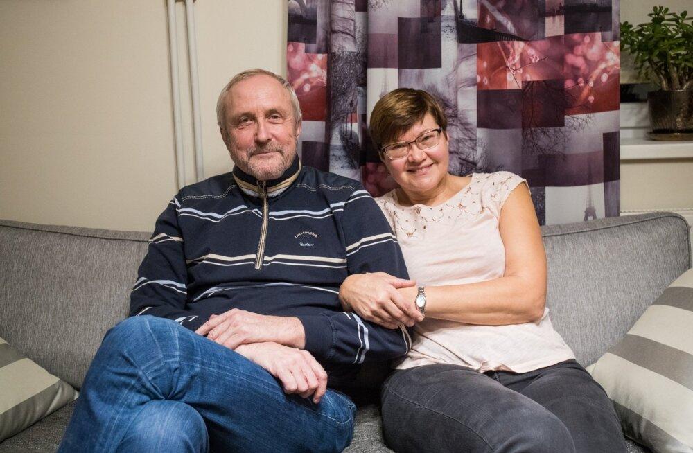 Sirje ja Koit Makke naudivad Jõhvis pensionipõlve.