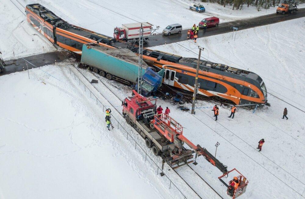 Liiklusõnnetus Ohtu raudteeülesõidul