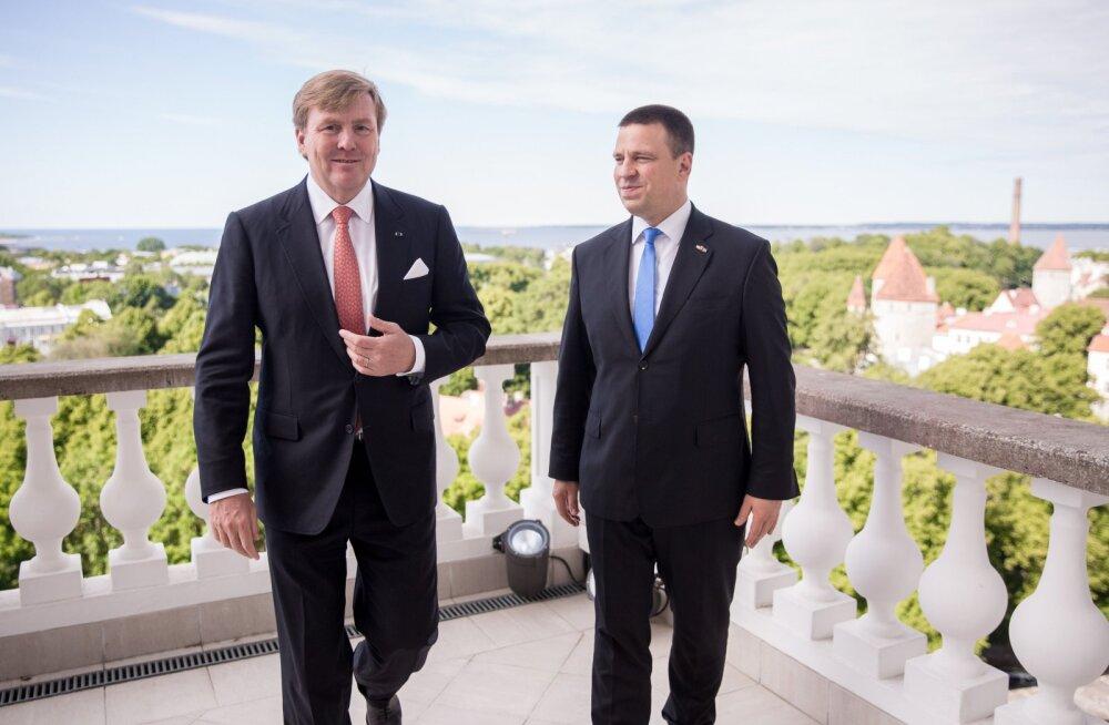 Премьер-министр Ратас встретился с королем Нидерландов Виллемом-Александром