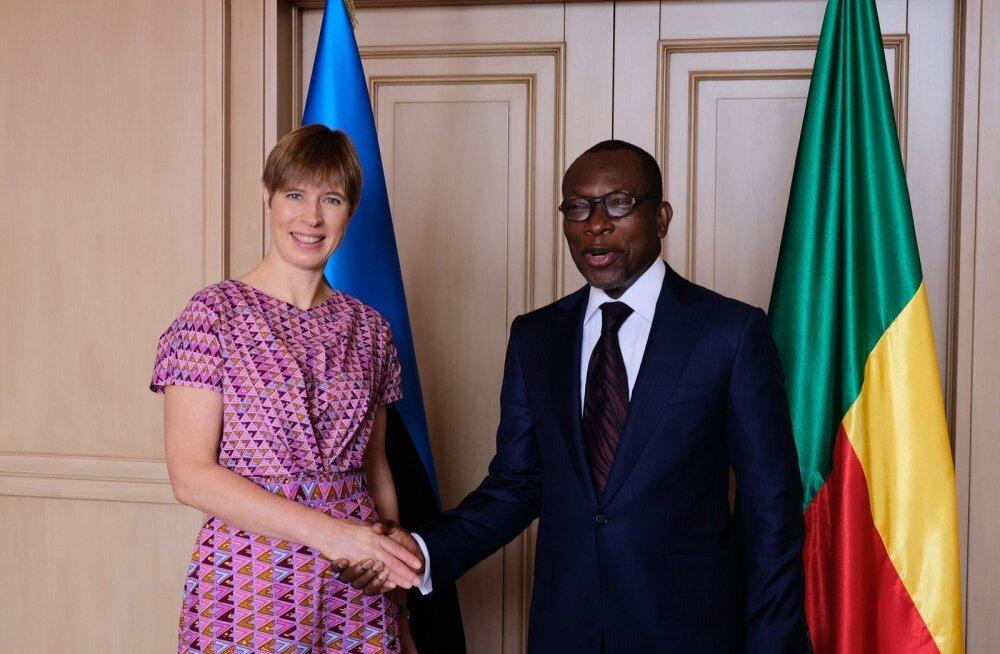 Kersti Kaljulaid ja Benini president Patrice Talon