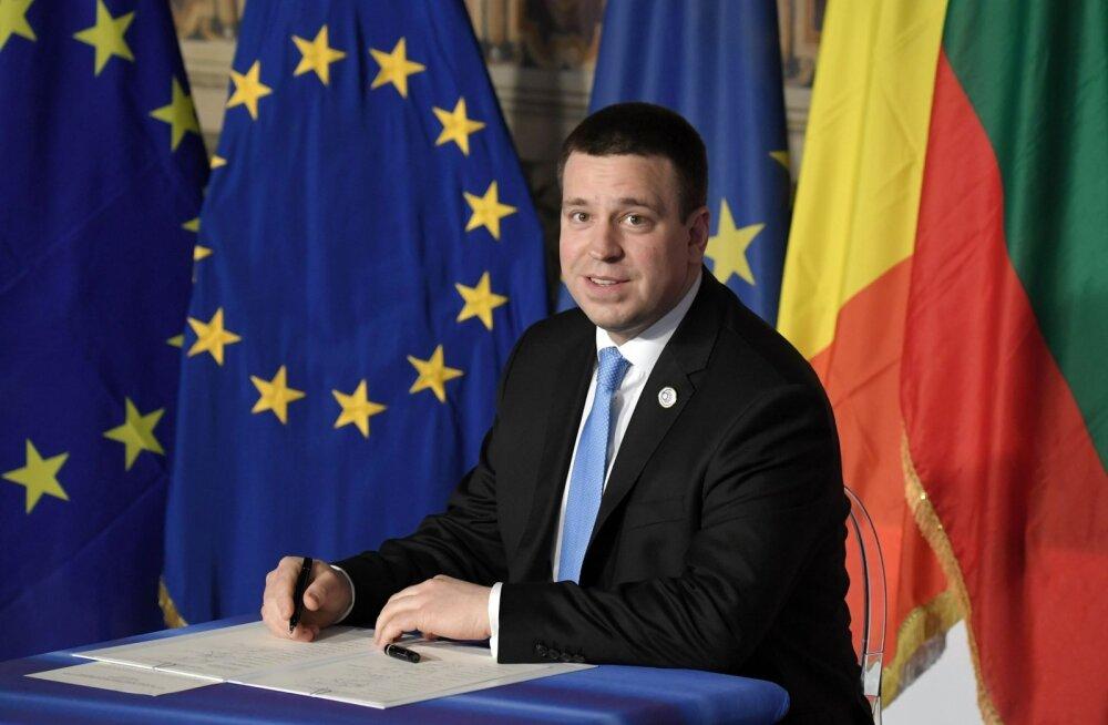 Jüri Ratas viibib Roomas Euroopa Liidu tippkohtumisel.