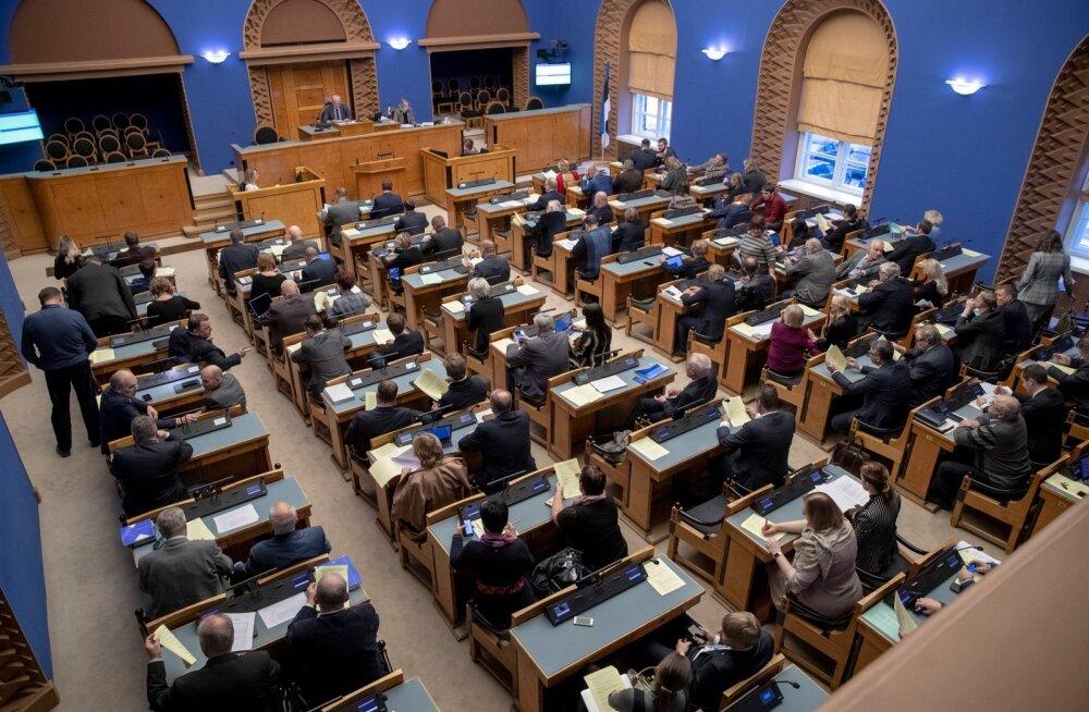 Riigikogu mõistis Venemaa agressiooni Ukrainas hukka, ent mitte üksmeelselt. Vaata, kes jätsid hääletamata