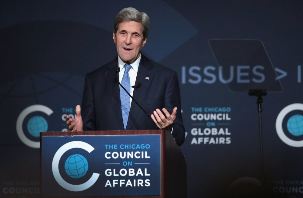 US-JOHN-KERRY-DELIVERS-SPEECH-ON-AMERICA'S-INTERNATIONAL-ROLE-AN