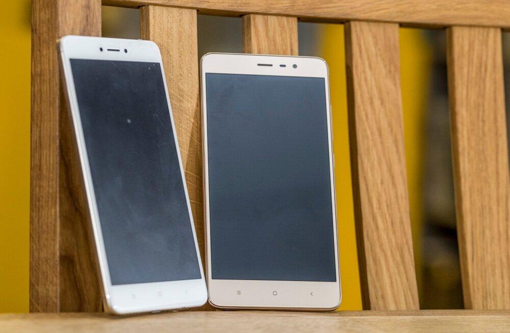 Xiaomi redmi Note 3 ja 4