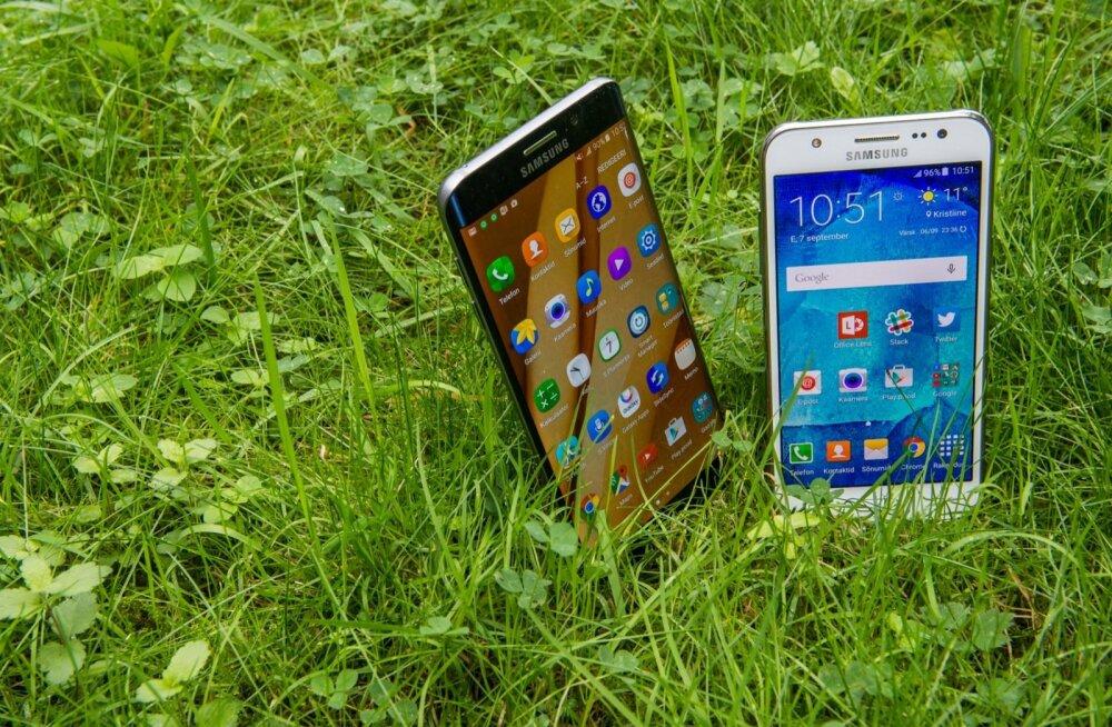 Huawei ja Samsungi nutitelefonid