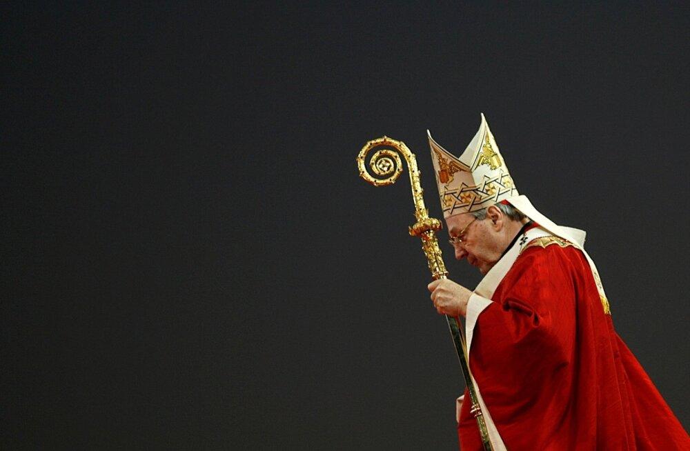 Kardinal George Pell pidas 2008. aastal Austraalias ülemaailmsel noortepäeval missa.