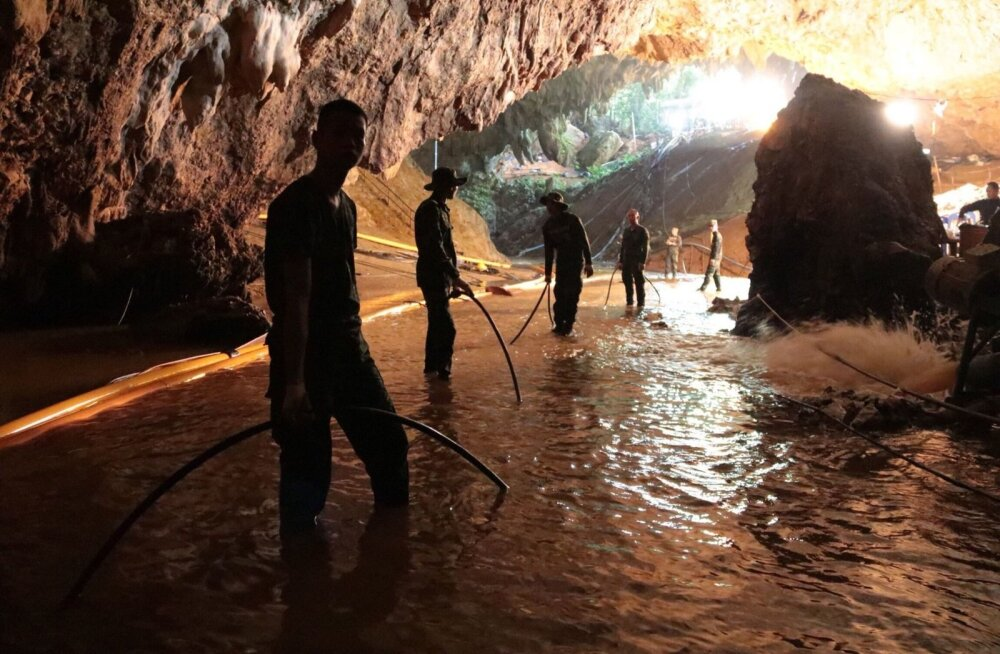 Tai sõjaväelased pumpasid nädalavahetusel enne operatsiooni Tham Luang Nang Noni koopast vett välja ja lõpuks oligi veetase poiste päästmiseks piisavalt madal.