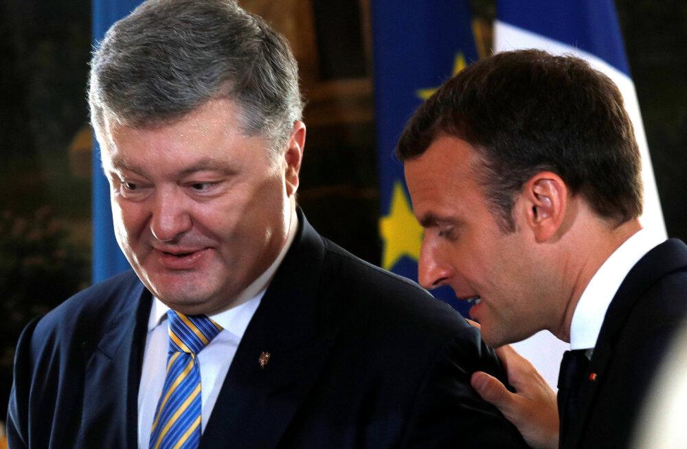 Macron pärast Porošenkoga kohtumist: Prantsusmaa ei lepi Krimmi annekteerimisega