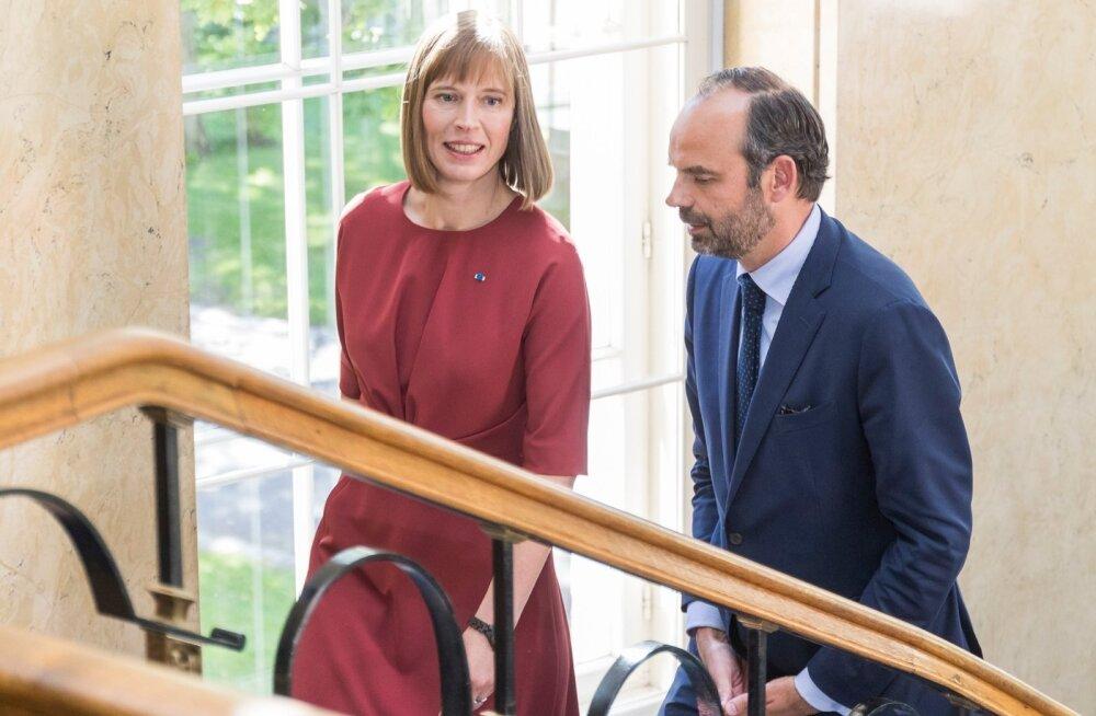 Prantsuse peaminister Édouard Philippe kohtus eile Eesti presidendi Kersti Kaljulaidiga.