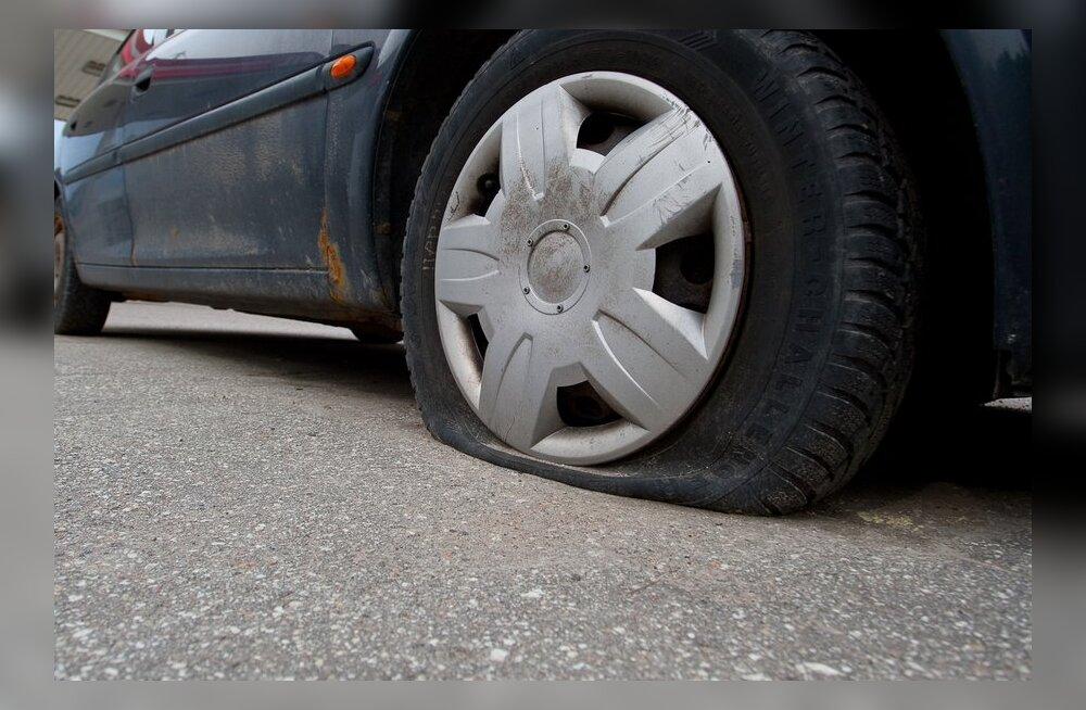 """Riia politsei tabas 258 auto rehvid katki torganud """"looduskaitsja"""""""