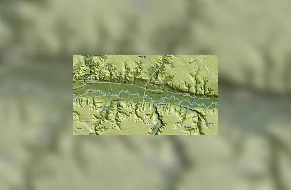 Uurige võrgus tervet riiki katvalt reljeefkaardilt Eesti pinnavorme ja nende ajalugu!