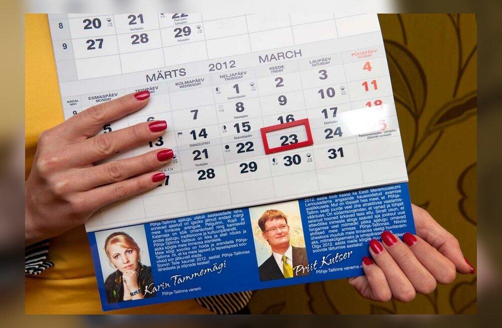 Linnaosavanem kulutas 10 800 eurot oma pildiga kalendritele
