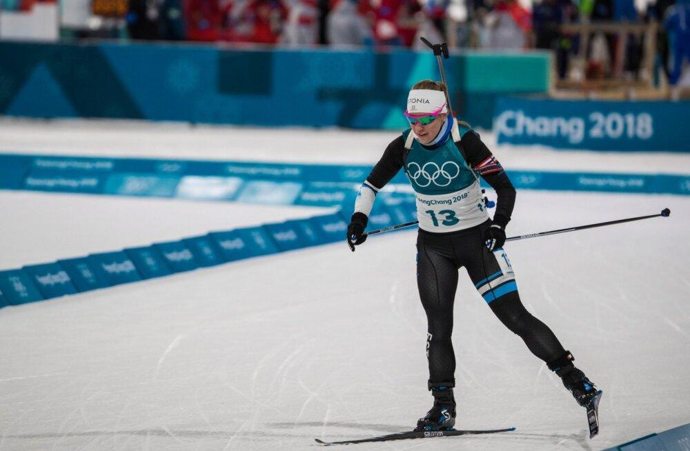 Eesti laskesuusatajate parima koha eest hoolitses Pyeongchangi olümpial Johanna Talihärm.
