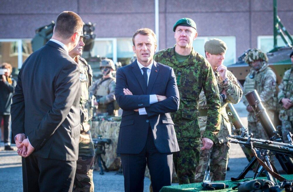 Prantsusmaa president Emmanuel Macron möödunud aasta septembris Tapal.