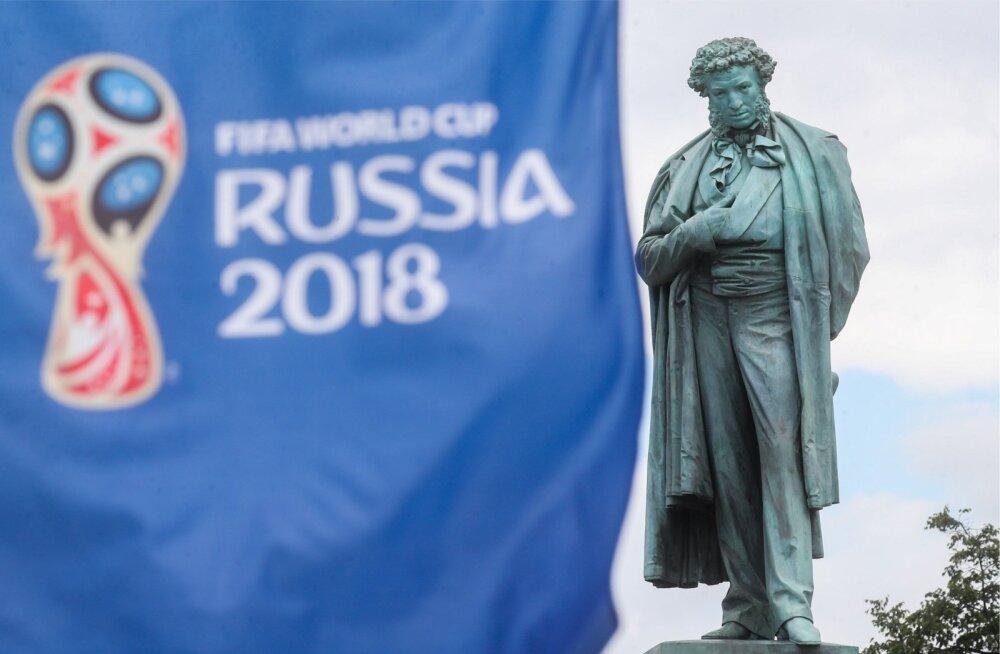 Aleksandr Puškin ja jalgpalli MM. Mõlemad on Venemaa uhkused.