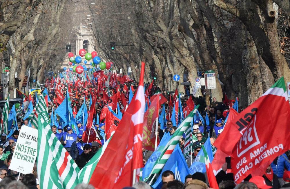 В Риме 200 000 человек выступили против экономических мер правительства