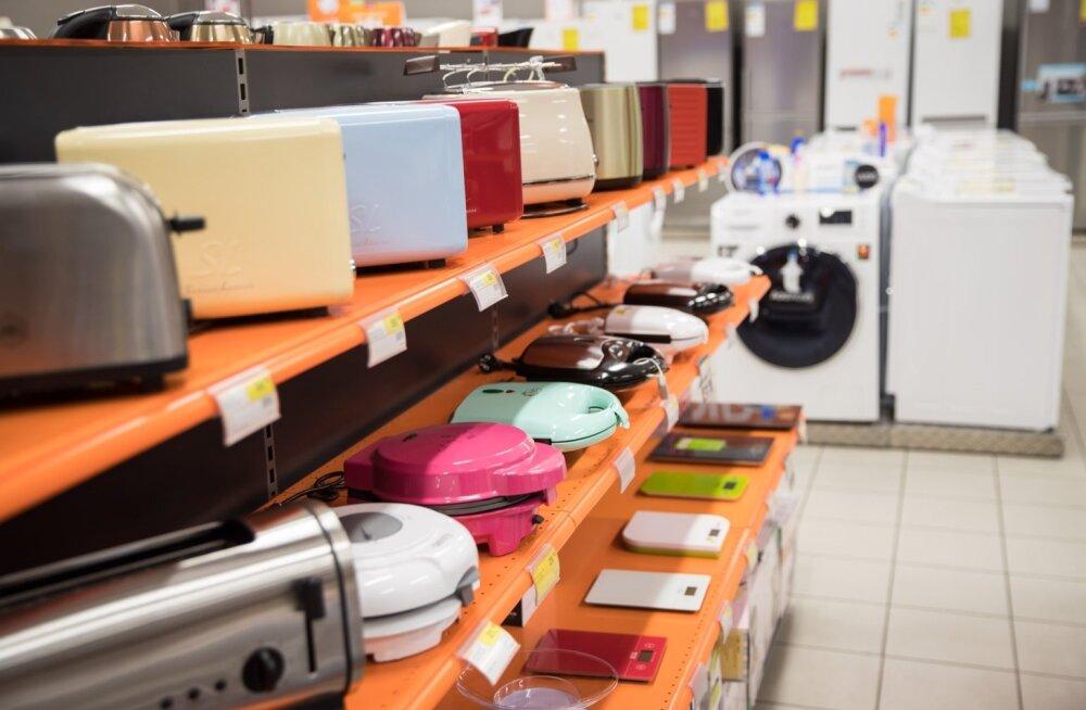 Enim garantiiremonti vajavad elektroonikakaubad