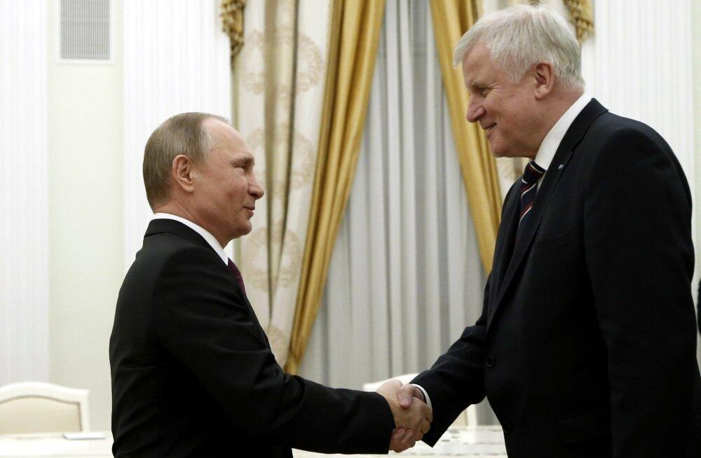 Baieri peaminister käis Krimmi referendumi aastapäeval Putinile Merkeli eriti südamlikke tervitusi viimas