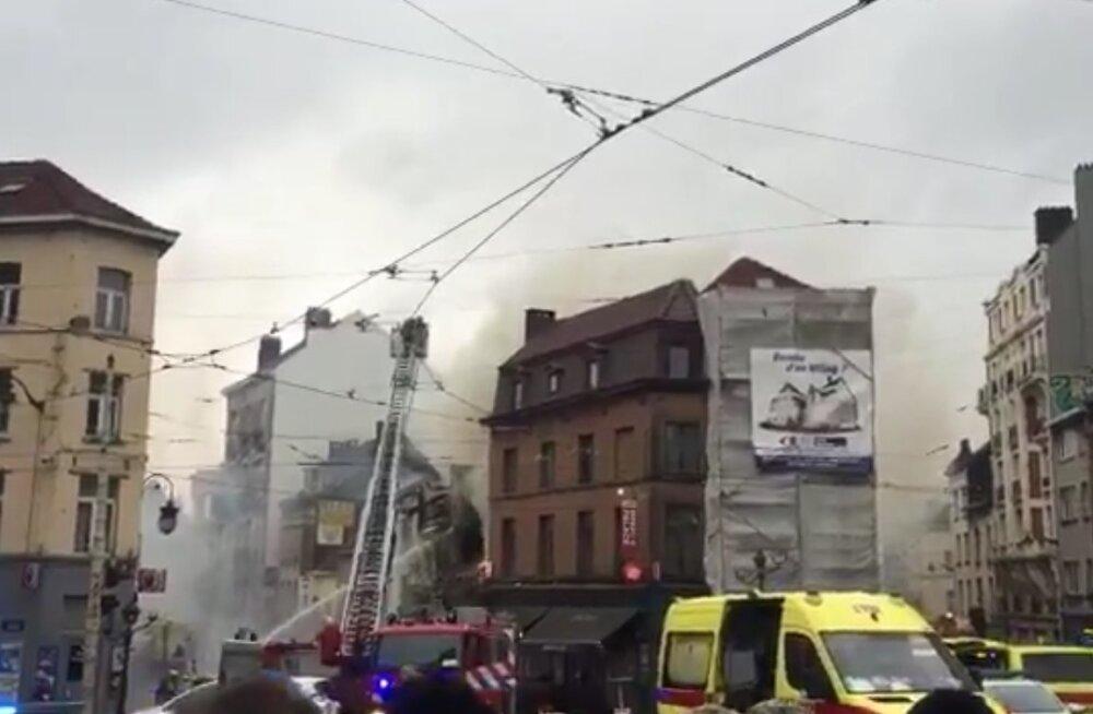 ВИДЕО: В Брюсселе после взрыва газа обрушились два жилых дома