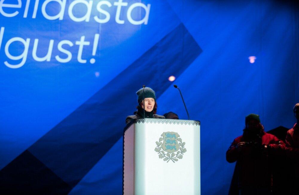 President Kersti Kaljulaid käis heliproovis