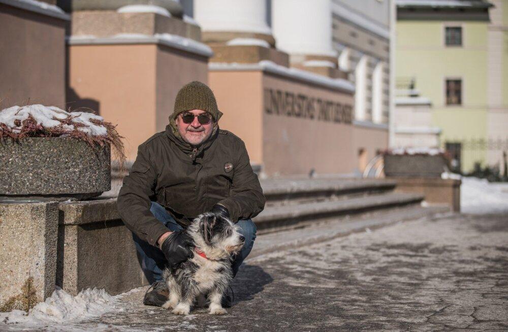 Mart Kivastik ja tema koer Marcello.