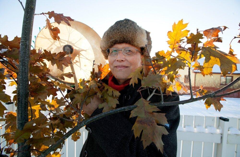 Kui Mikk Sarvel külas käisime, oli just maha sadanud lumi Eestimaale talve toonud. Šamaanitrumm kõlas sel lumeväljal kumedalt, veidi kõhedust, veidi aukartust tekitavalt.