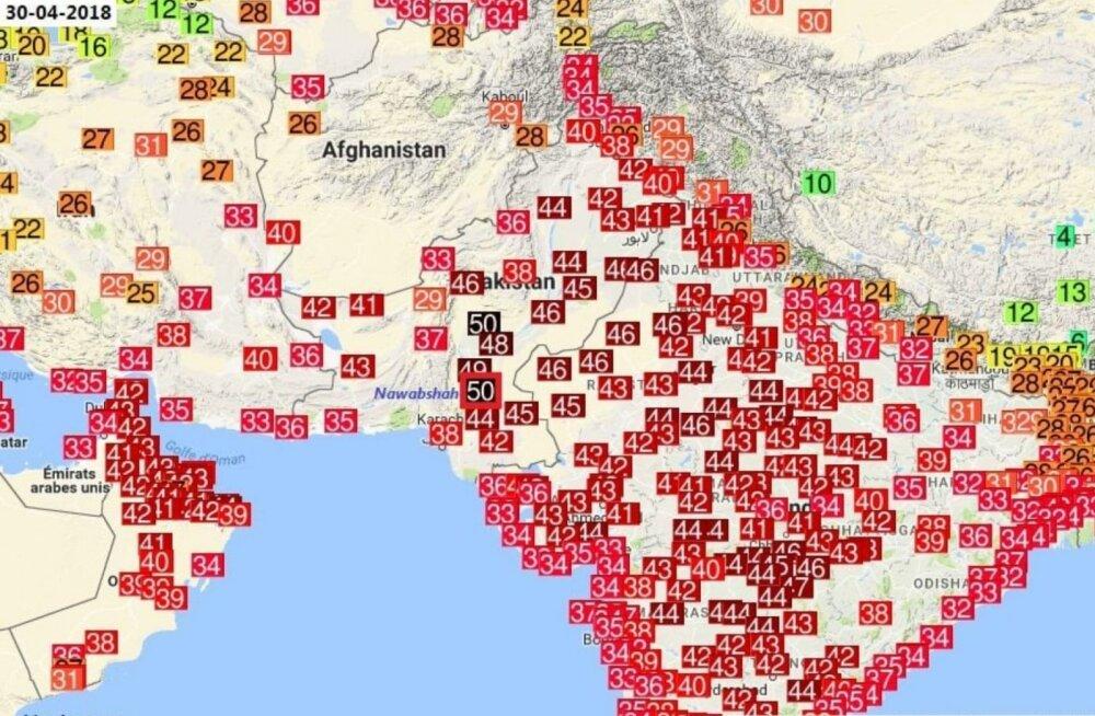 Pakistanis mõõdeti rekordiliselt kõrge õhutemperatuur