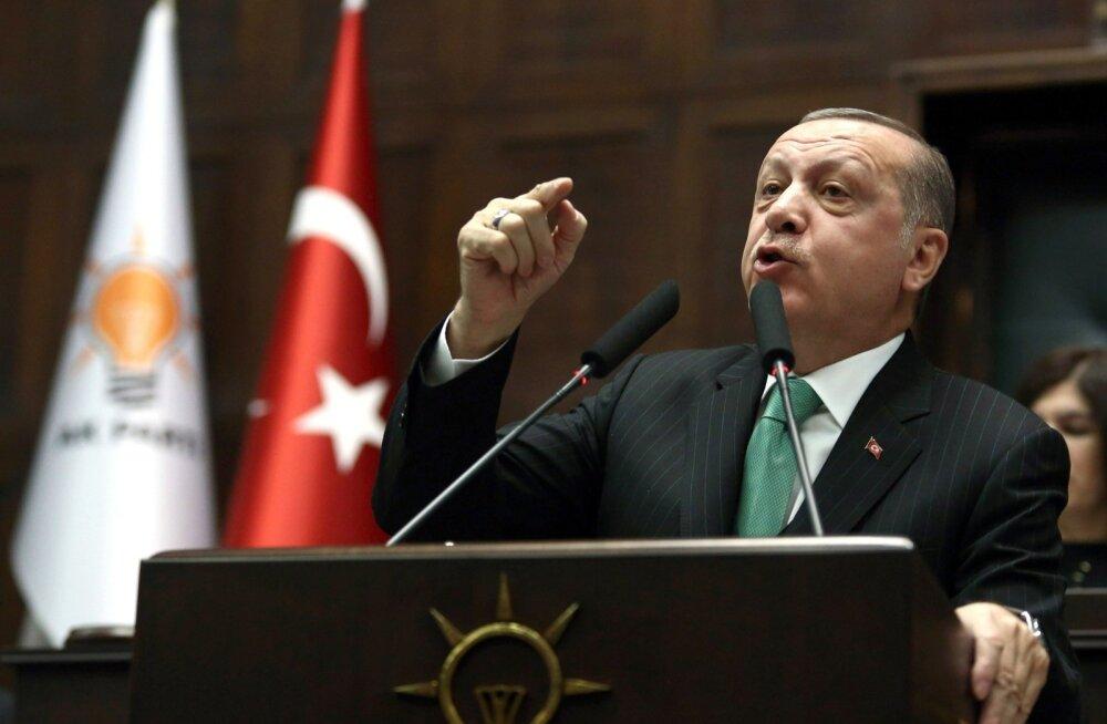 Ameeriklased ja kreeklased pole piisavalt Türgi rusikat tunda saanud, rääkis Erdoğan teisipäeval peetud kõnes.