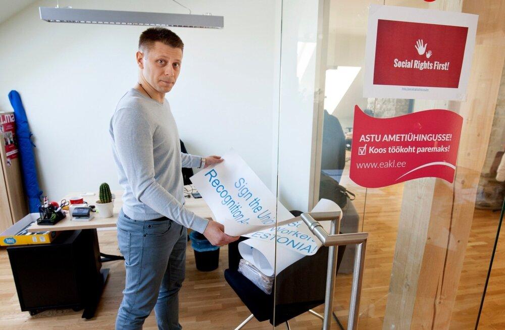 Eesti Ametiühingute Keskliidu organisatsioonisekretär Artjom Arhangelski