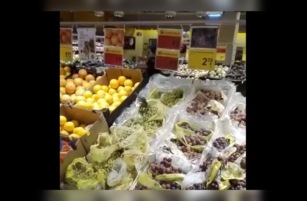Vahva VIDEO | Vaata, millist üllatavat külalist Tallinna toidupoes viinamarju degusteerimas märgati