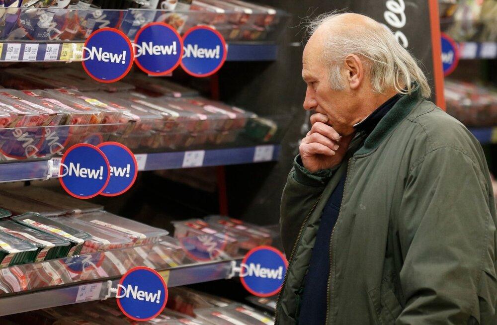 Toidupood Lõuna-Inglismaal. Briti riigikantselei sõnul valmistub riik ähvardavaks toidukriisiks.